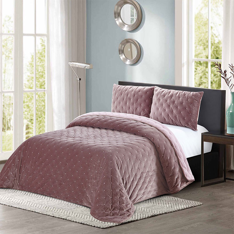 dot stitching comforter set