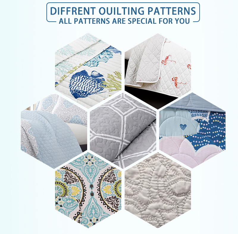 different quilting patterns for bedding set