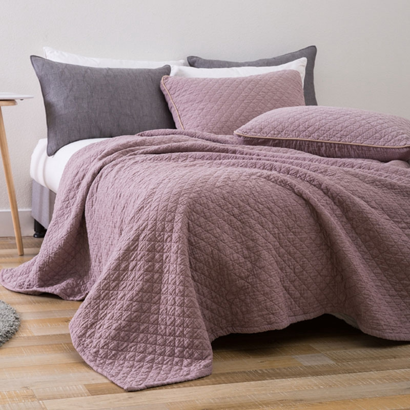 crinkle quilt bedspread stone washed