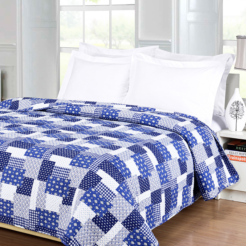 plaid pattern patchwork coverlets