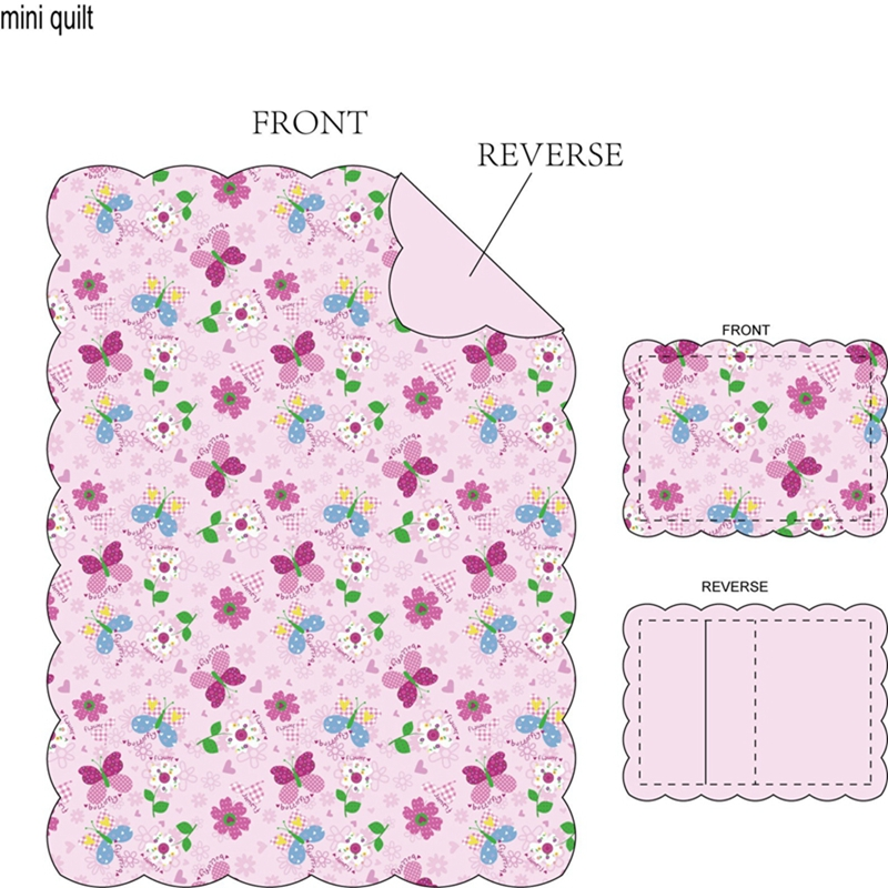 cute butterfly quilted bedspread