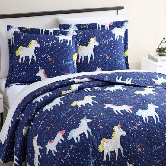 Unicorn Quilt Set | Farytale Rainbow Comforter Set